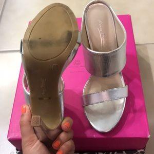 d58384d02d3f0 Anne Michelle Shoes - Silver Anne Michelle mule heels